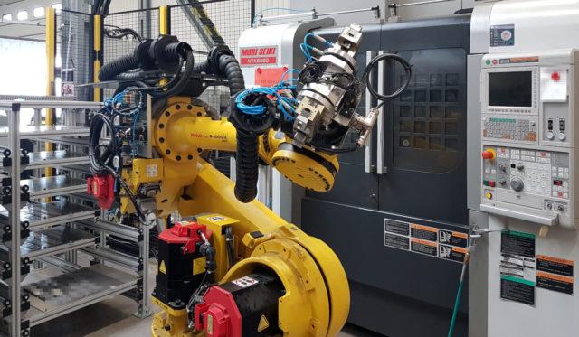robotyzacja stertech obrabiarki cnc